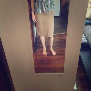 Jcrew camel wool no. 2 pencil skirt size 00